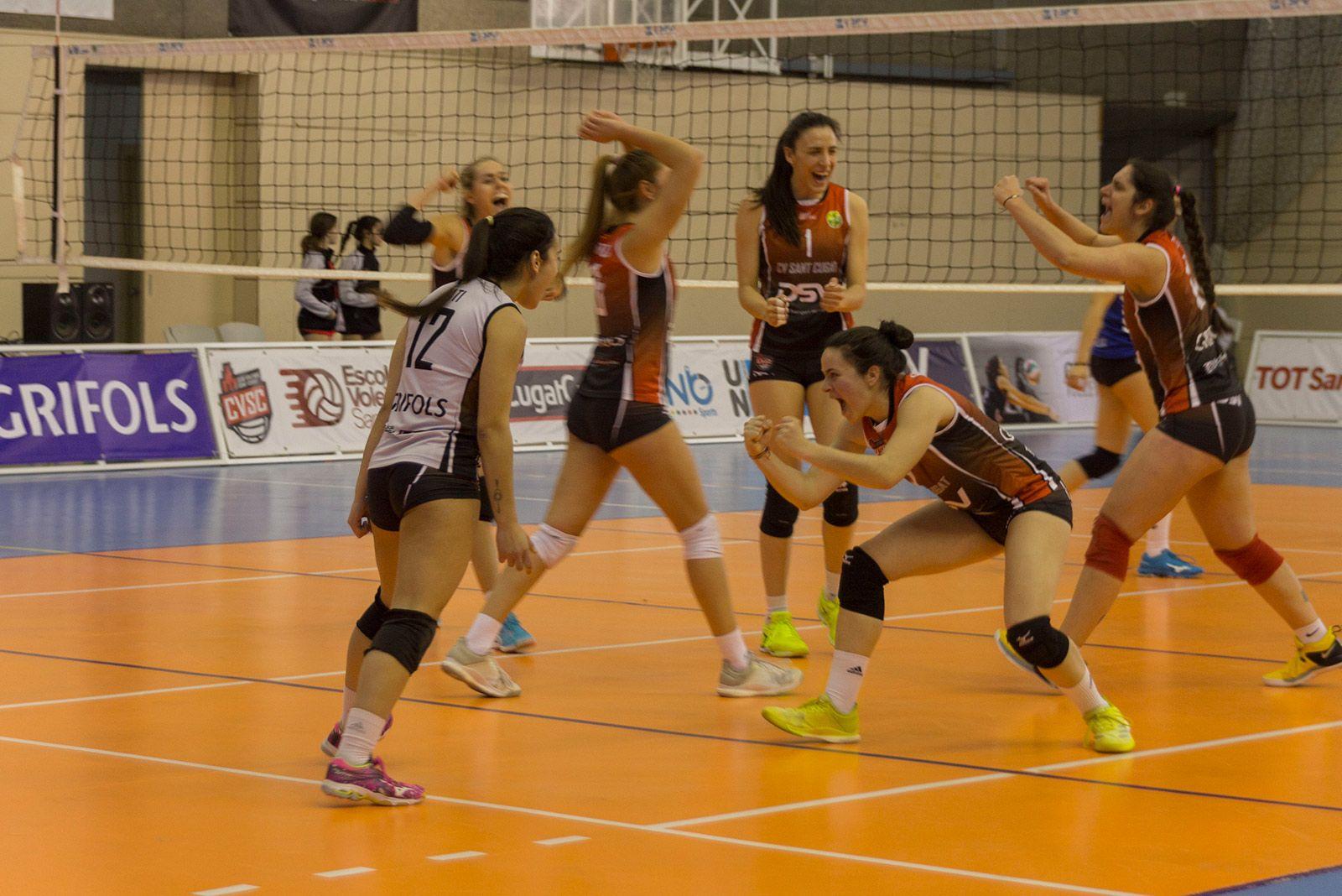 Partit de lliga CV Sant Cugat - Emevé. FOTO: Paula Galván