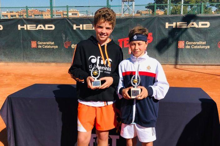 Max Solano, del Club Tennis Natació Sant Cugat, subcampió de Catalunya Aleví de tenis