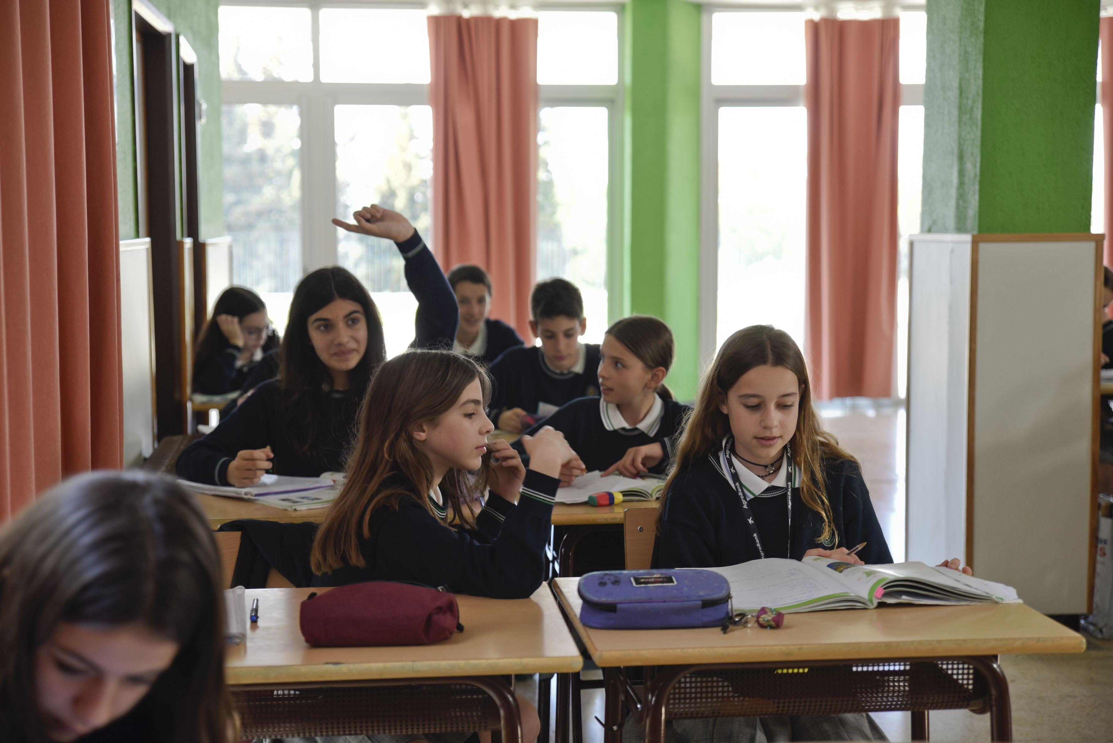 Classe de Secundària a Col·legi Pureza de Maria Sant Cugat. FOTO: Bernat Millet
