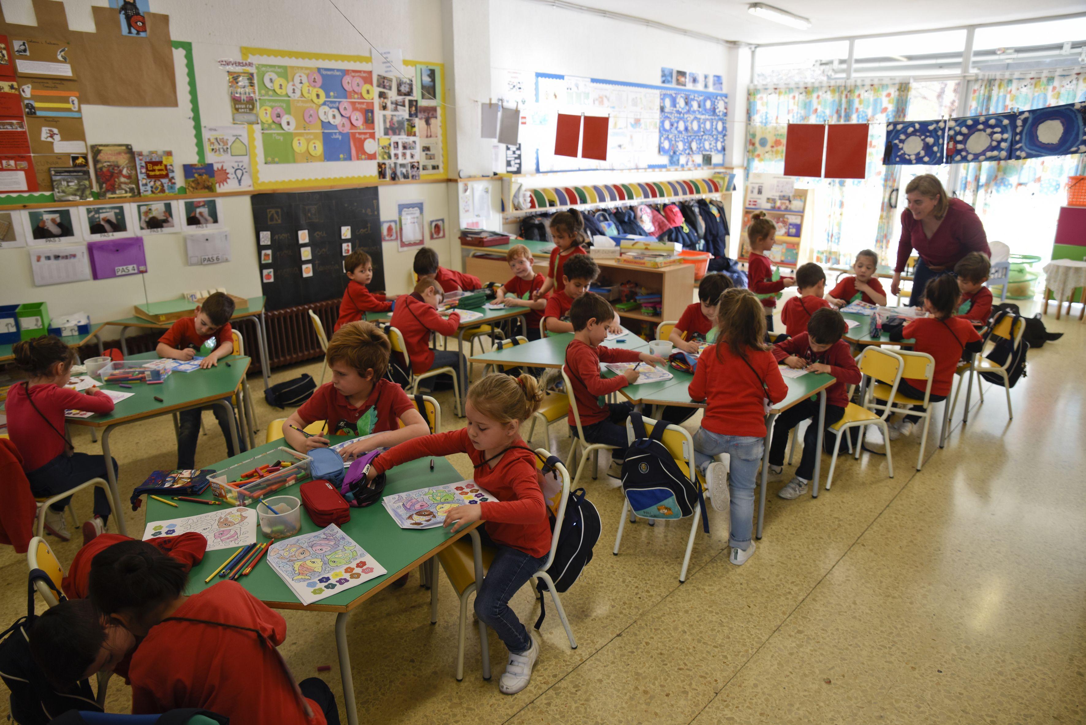 Educació Infantil al Col·legi Pureza de Maria Sant Cugat FOTO: Bernat Millet