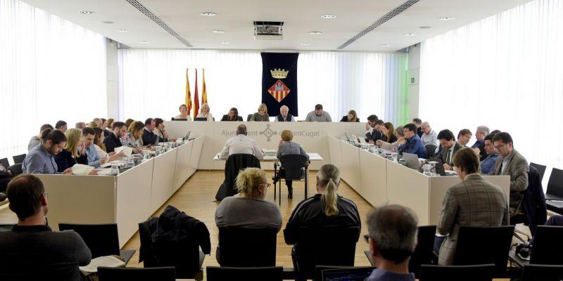 Tensió al ple municipal entre l'alcaldessa, Carmela Fortuny i Álvaro Benejam (PP)