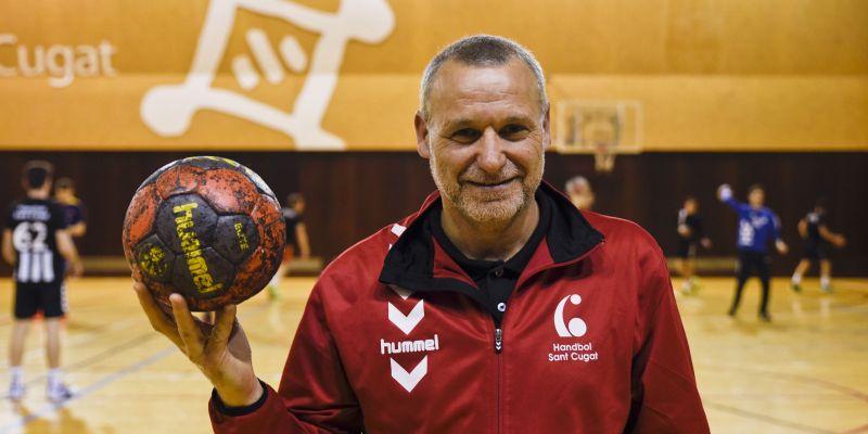 Joan Cinta, més de quatre dècades vinculat a l'handbol de Sant Cugat
