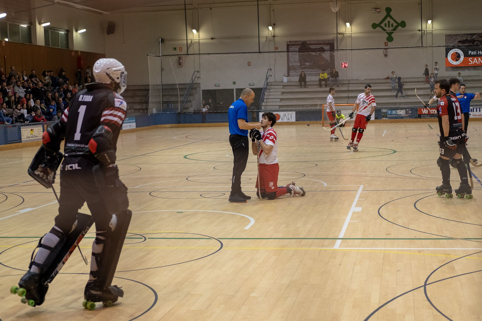 Partit de lliga, hockey sobre patins masculí: PHC Sant Cugat-CP Vic. FOTO: Ale Gómez