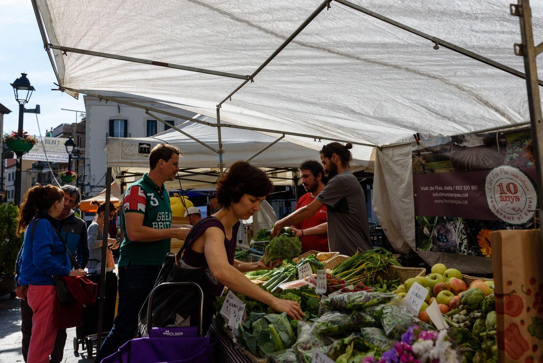 Mercat de pages a la plaça de Sant Pere. Foto: Miguel López Mallach