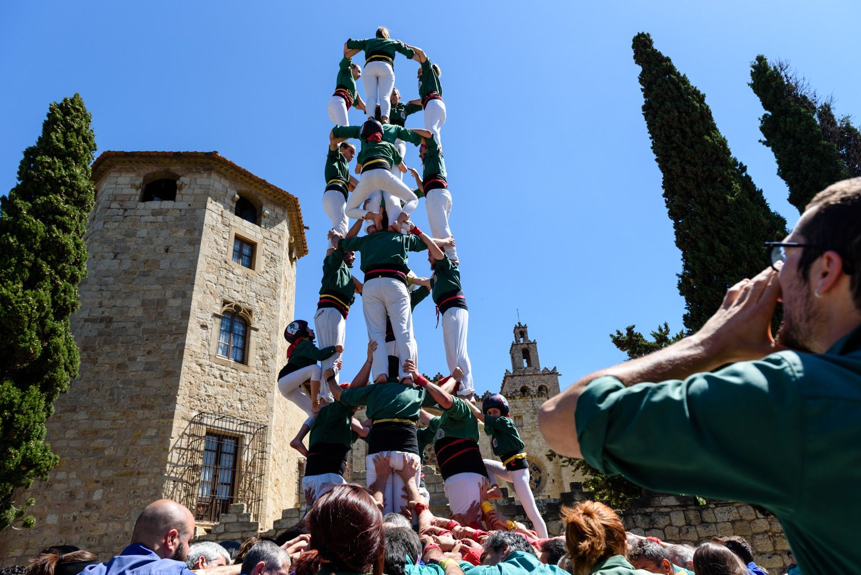 Diada castellera de Sant Ponç. Foto: Miguel López Mallach