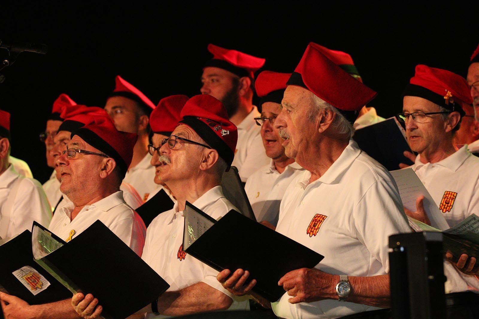 Concert amb el Cor de la Societat Coral la Lira i la Cobla Sant Jordi. Foto: Lali Álvarez