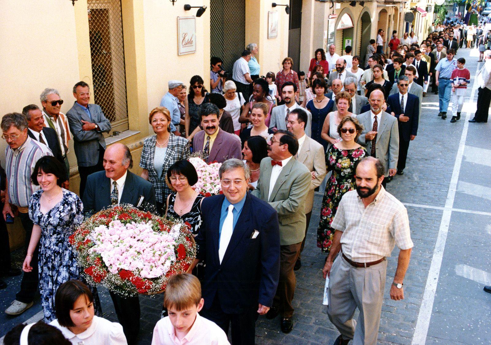 Seguici de Sant Pere als anys '90. Foto: Arxiu.
