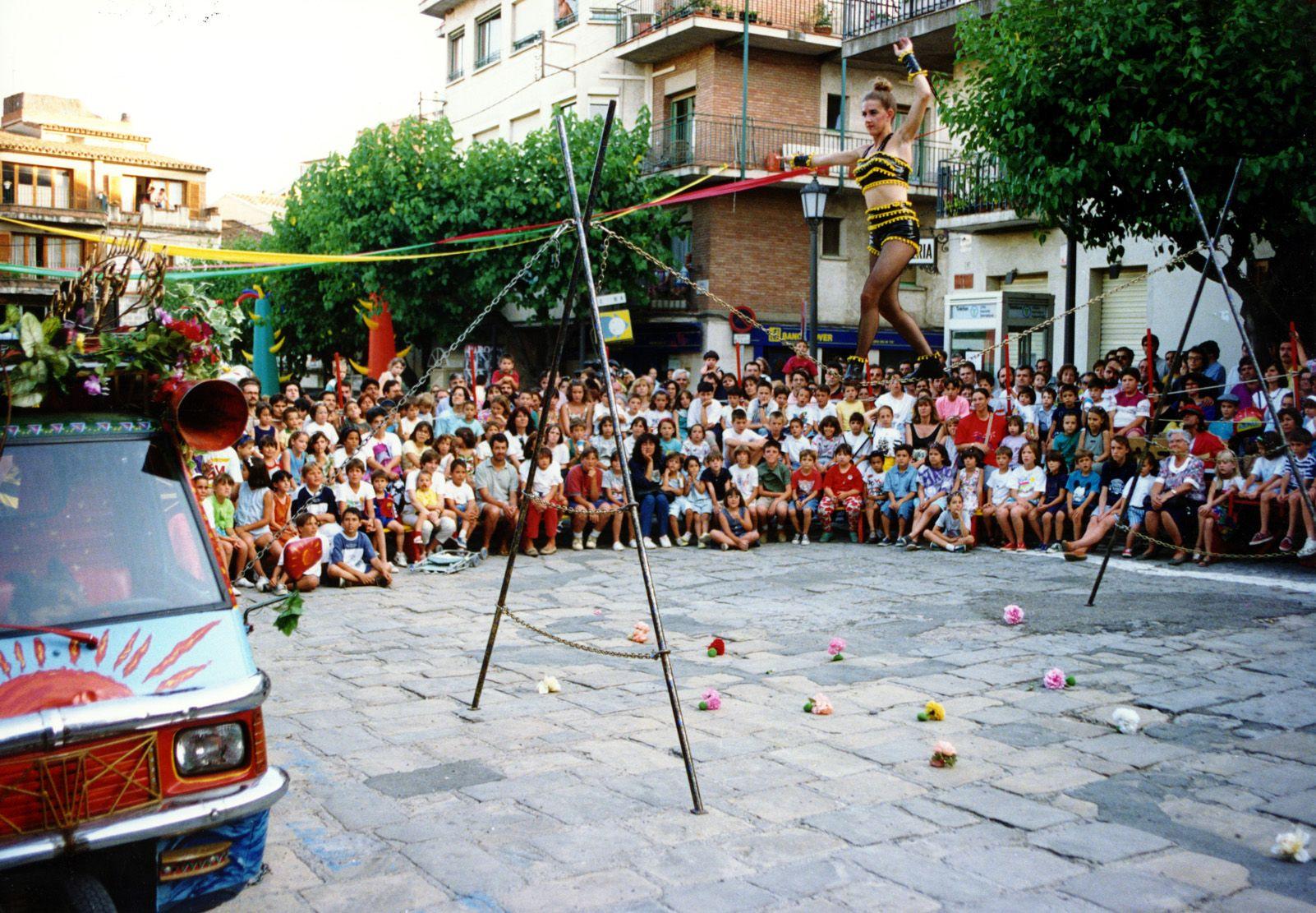 Circ de Festa Major dels anys '90. Foto: Arxiu.