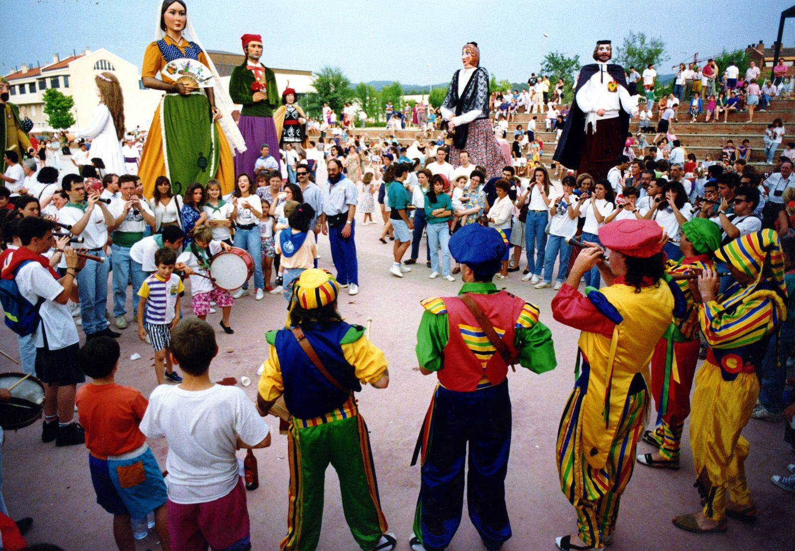 Trobada gegantera de Festa Major durant els anys '90. Foto: Arxiu.