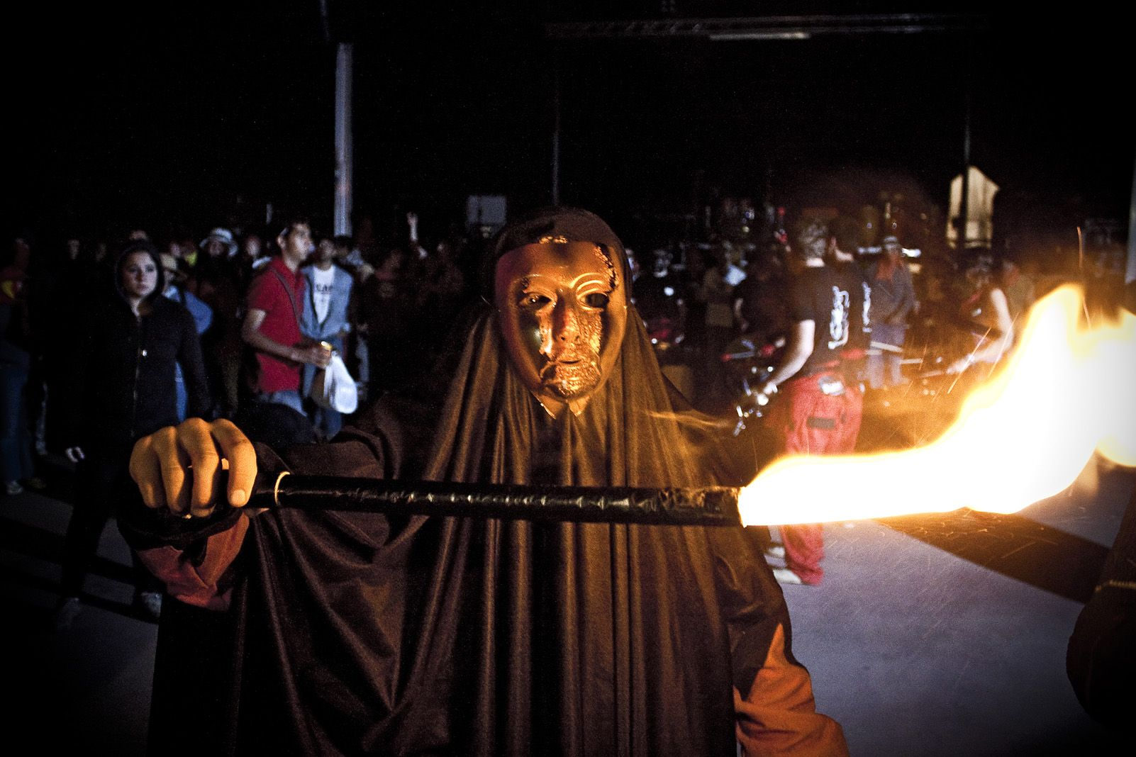 Diables de Festa Major durant els anys '90. Foto: Arxiu.