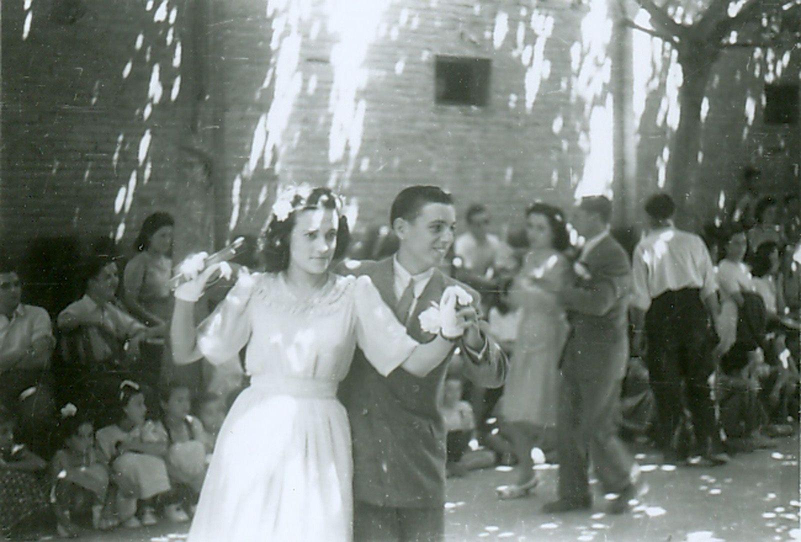 Paga-li Joan de Festa Major als anys quaranta. Foto: Arxiu.