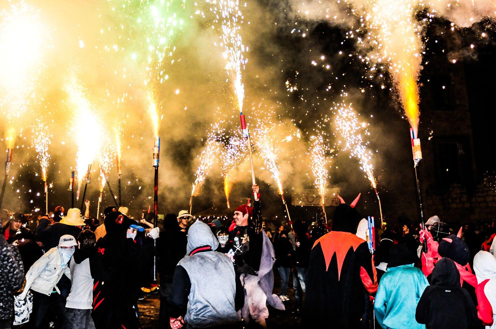 Correfoc de Festa Major l'any 2013. Foto: David Molina.