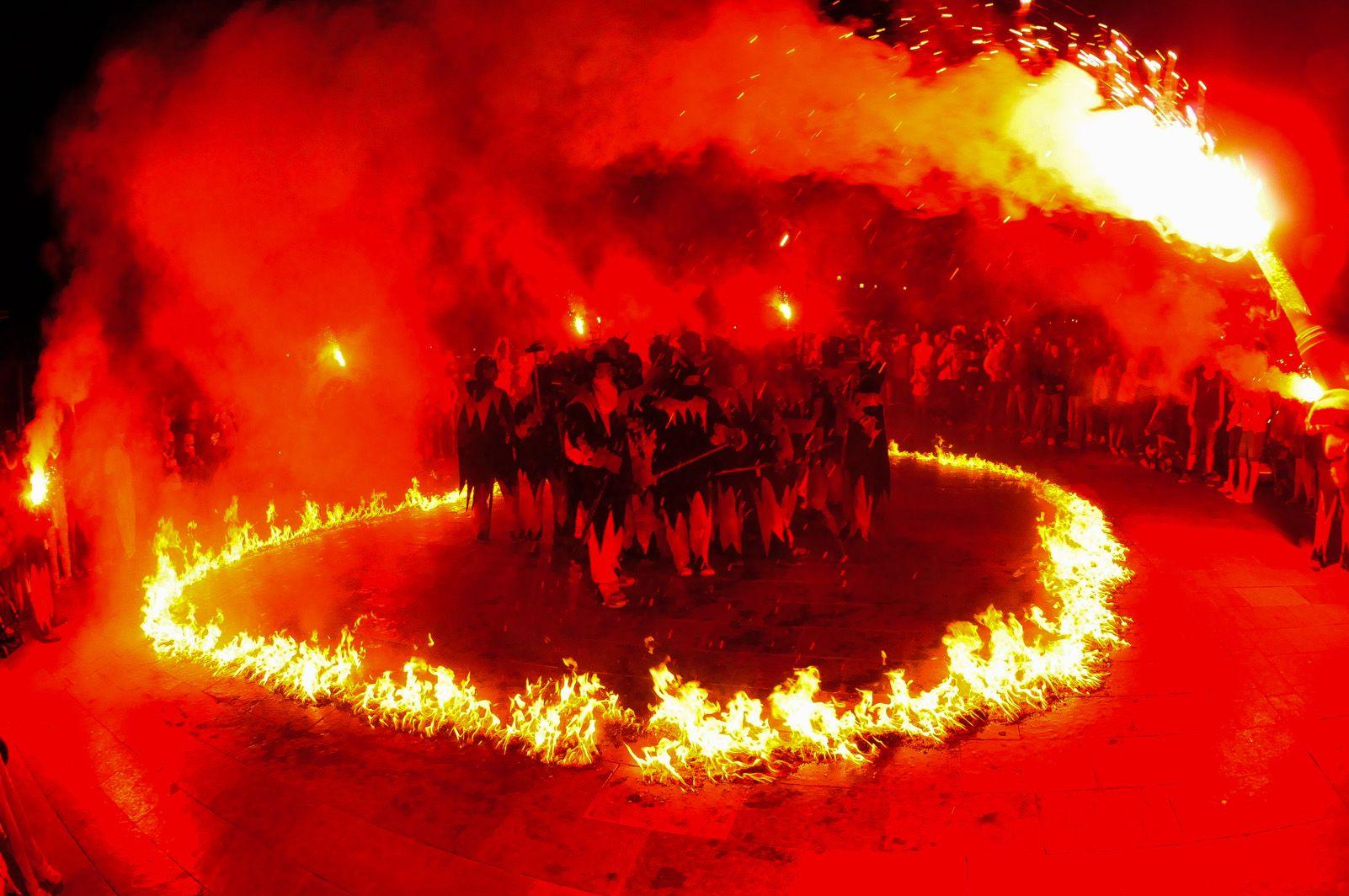 Diables de Festa Major l'any 2013. Foto: David Molina.