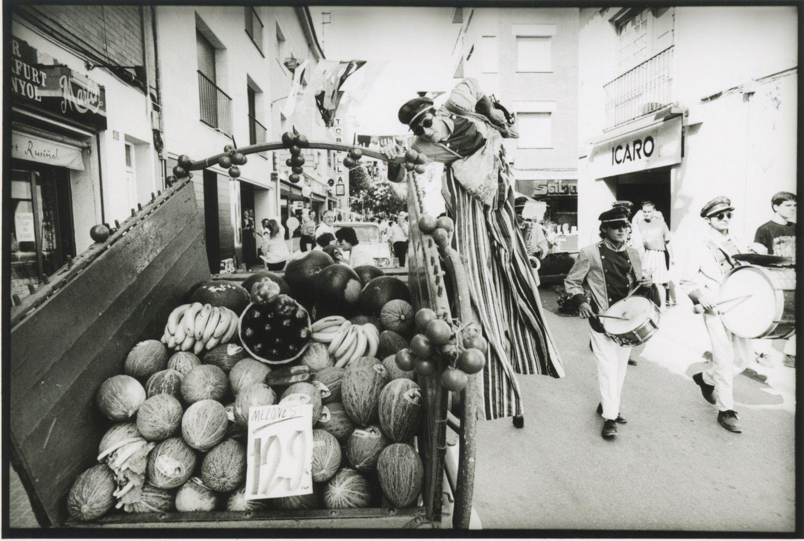 Botiga al carrer de Festa Major a l'any 1989. Foto: Xavier Larrosa.