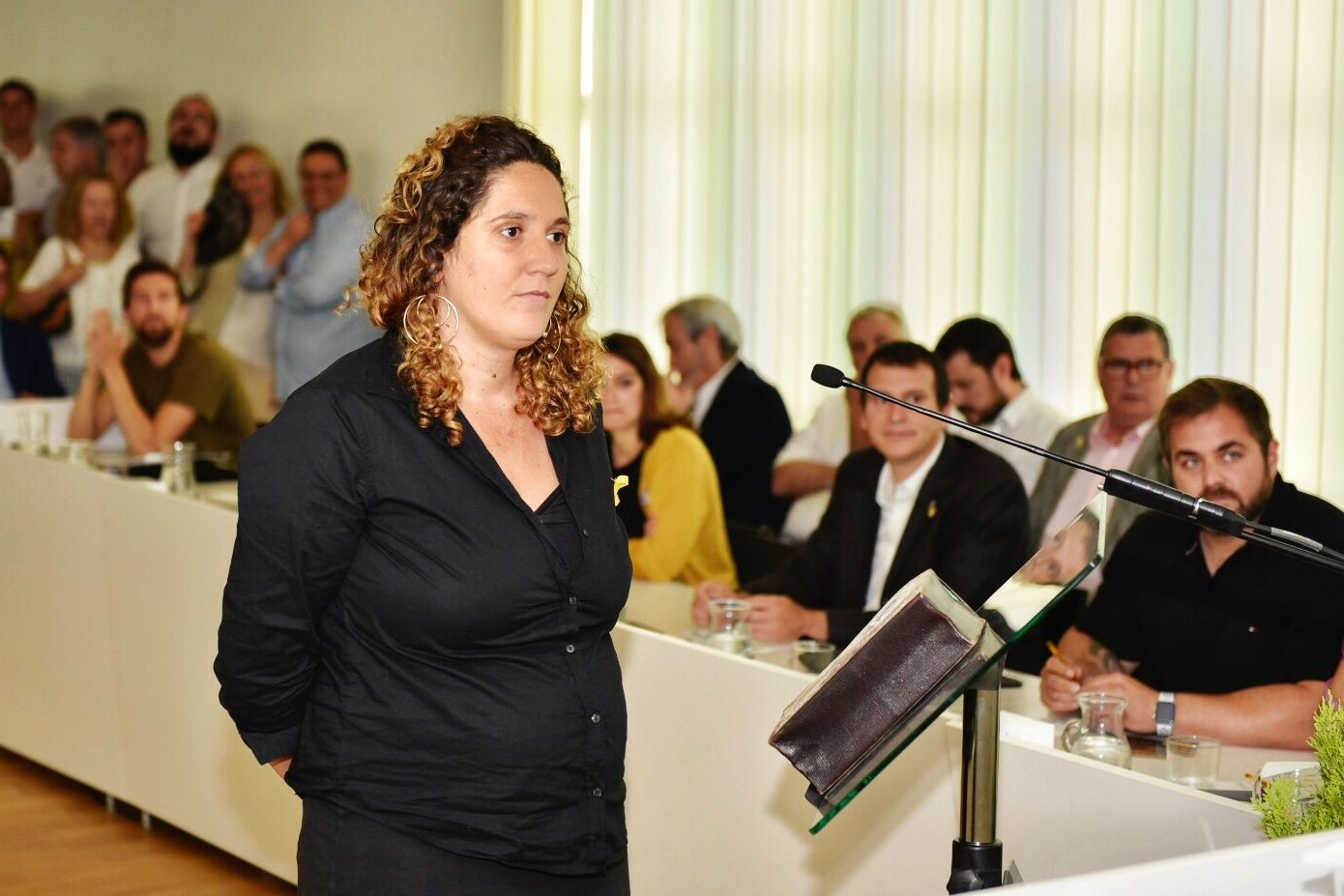 Núria Gibert, portaveu de la CUP. FOTO: Miguel López Mallach
