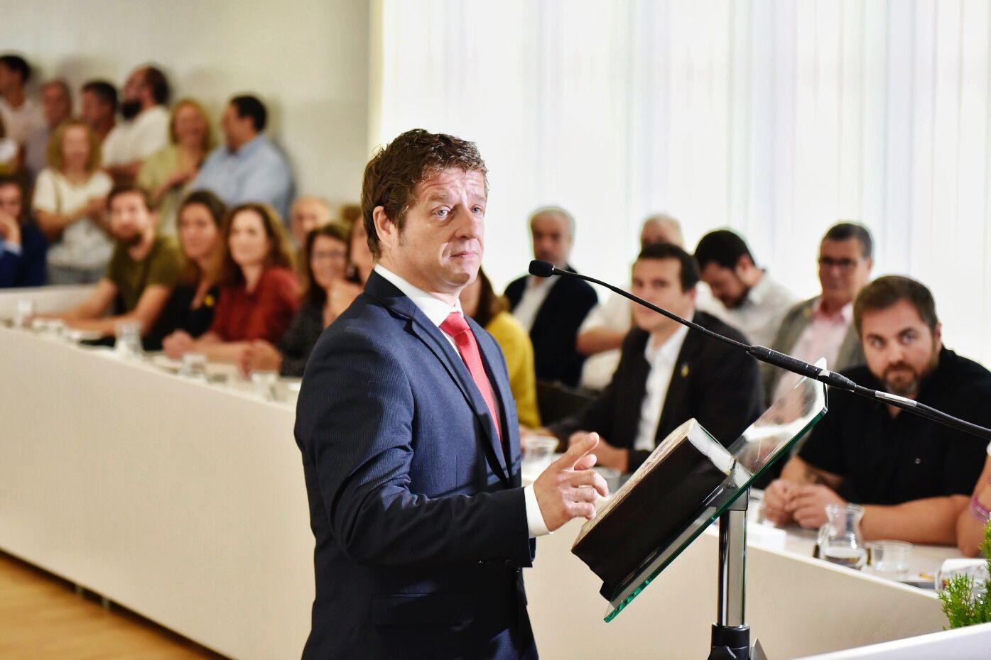 Pere Soler, portaveu del PSC. FOTO: Miguel López Mallach