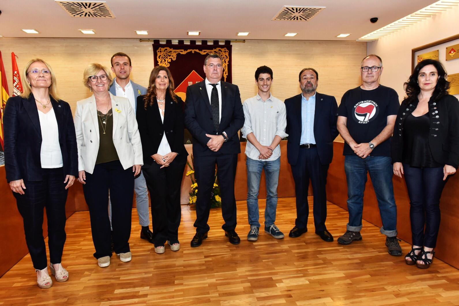 Foto de família dels vocals i president de l'EMD de Valldoreix. FOTO: Miguel López Mallach