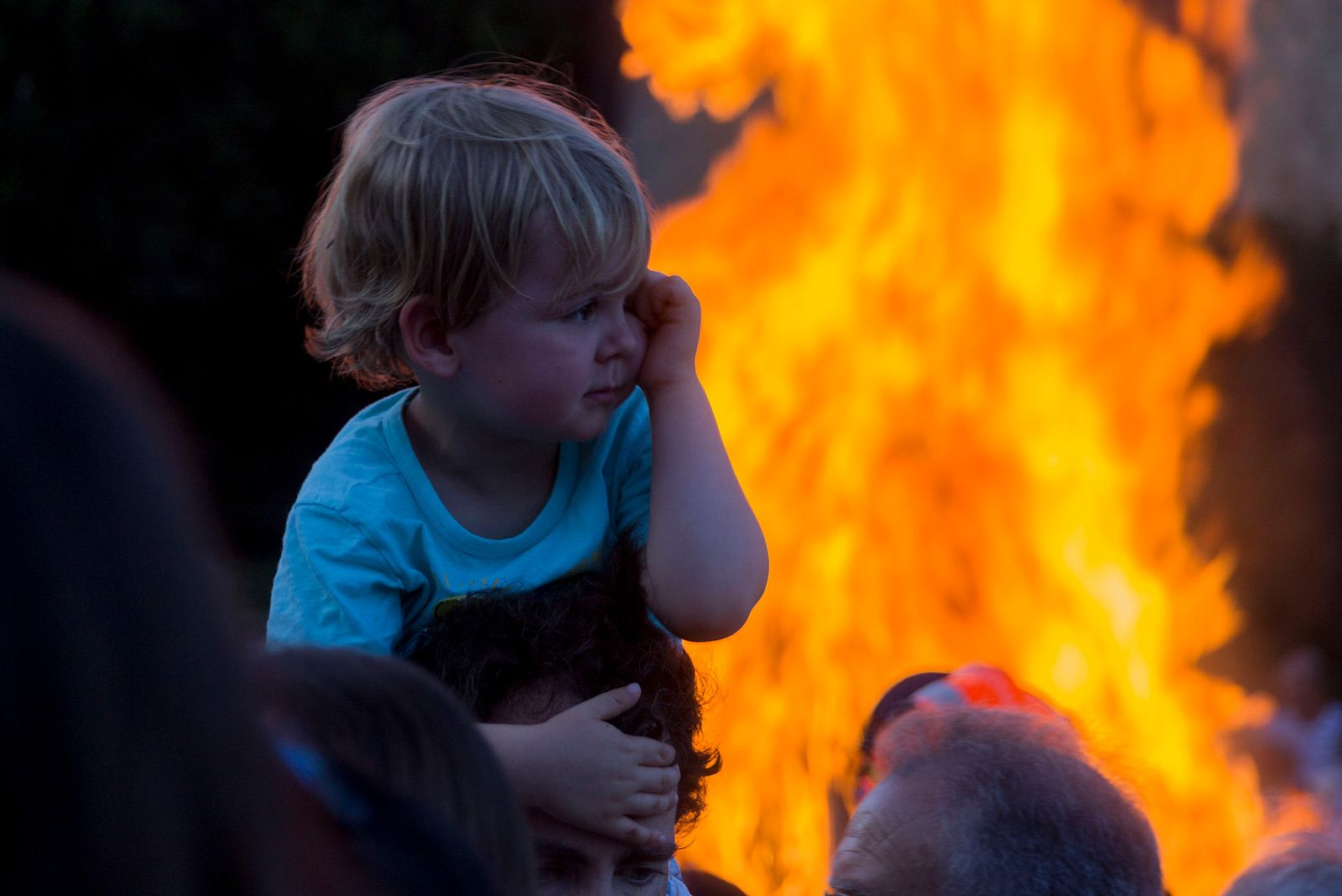 Flama del Canigó. FOTO: Paula Galván