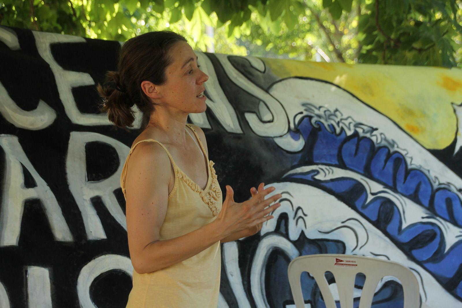 Xerrada d'ecologisme a la Festa Major Alternativa. FOTO: Paula Galván