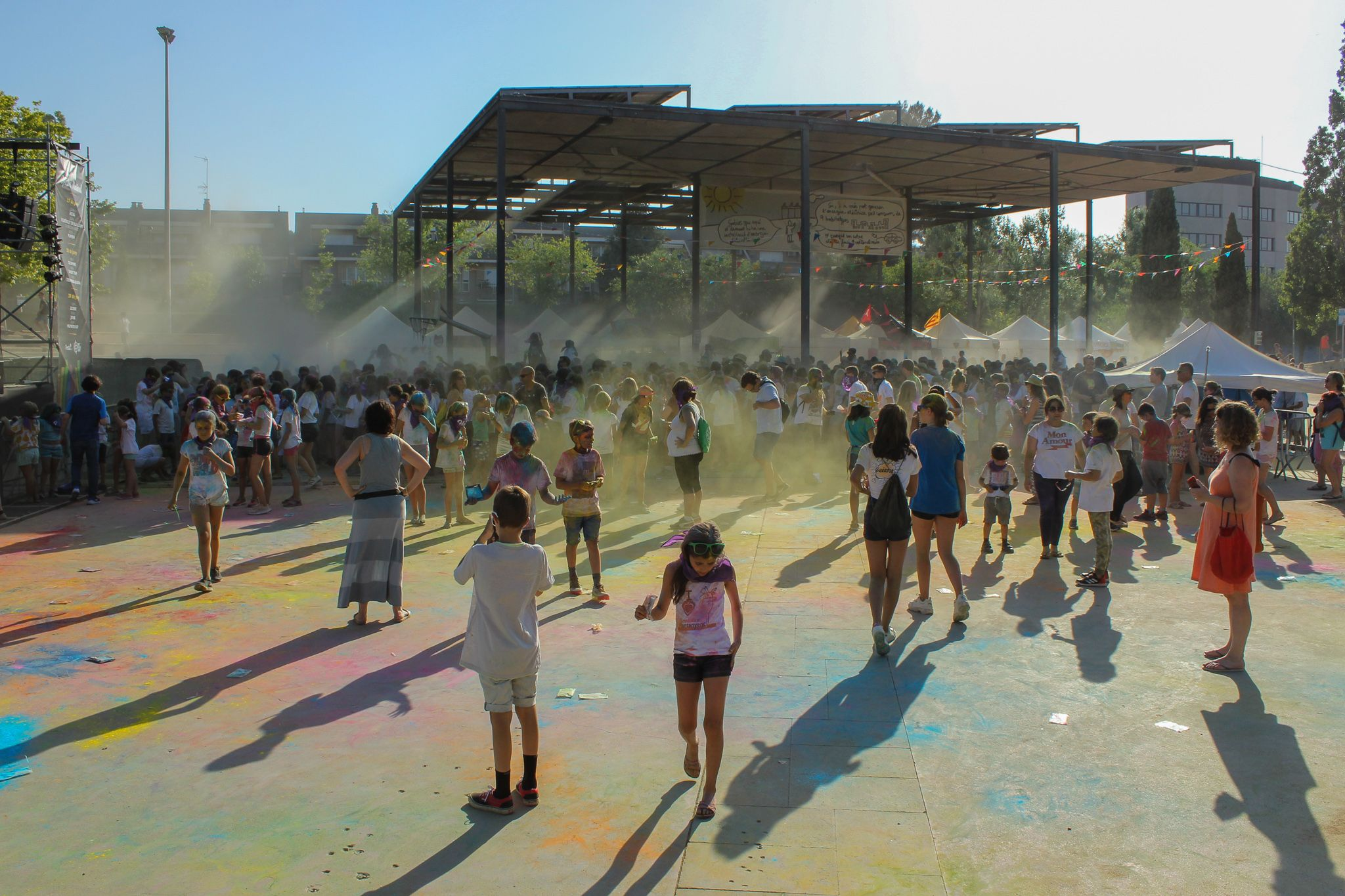 La festa del Holi. Foto: Alex Gómez