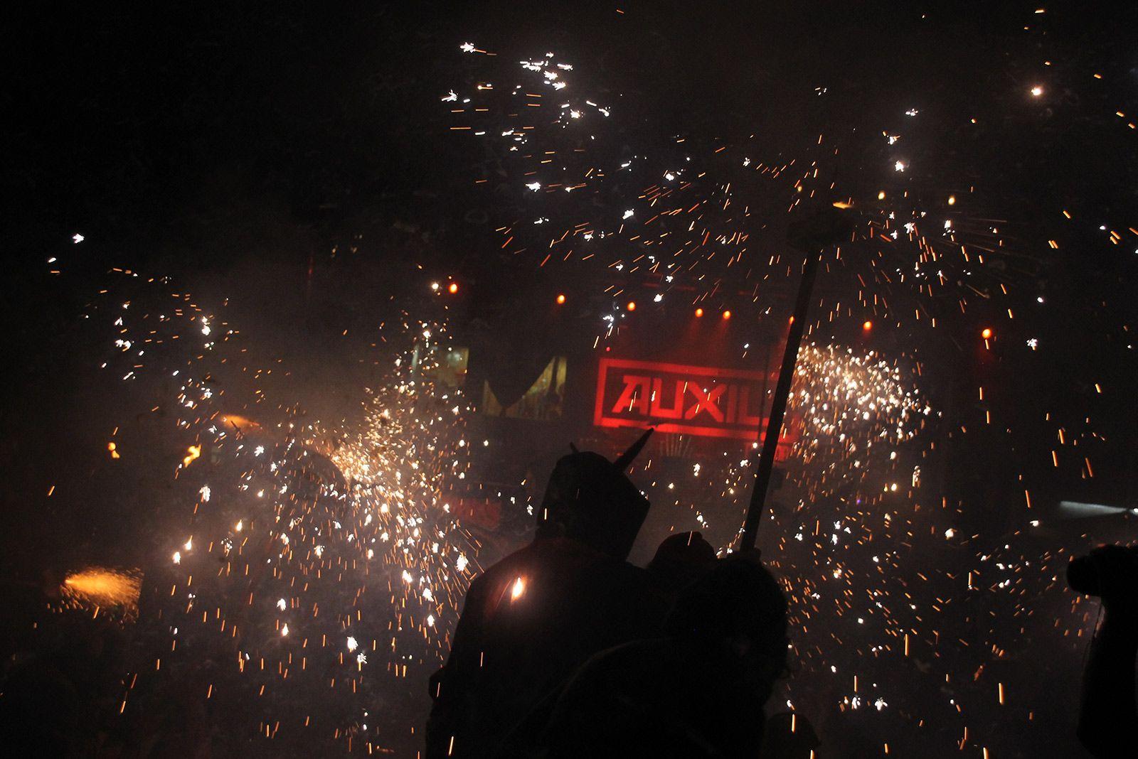 Final del correfoc de Festa Major. FOTO: Paula Galván