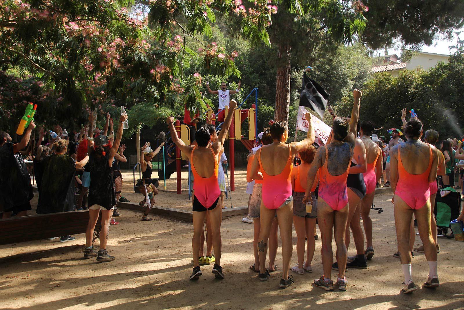 Olimpíades bandarres a la Festa Major de La Floresta. FOTO: Paula Galván