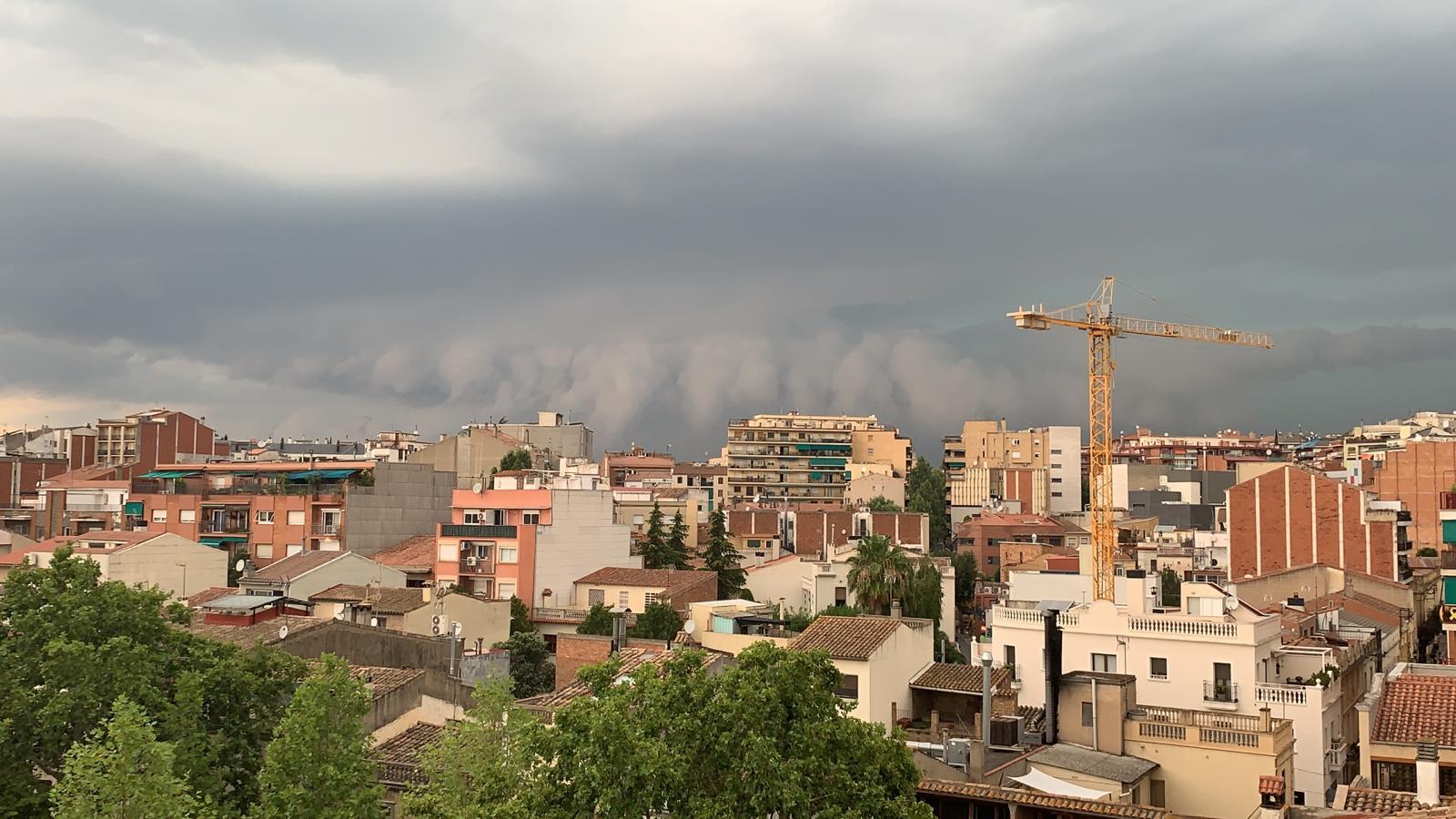 La tempesta arriba a Sant Cugat. Foto: Cedida.