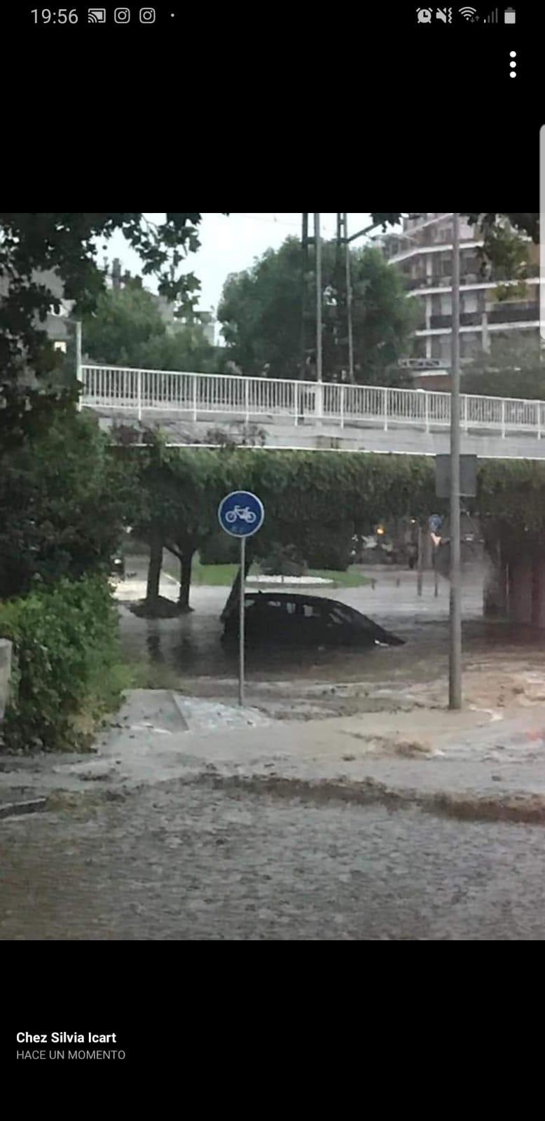 Aiguats durant la tempesta. Foto: Cedida.