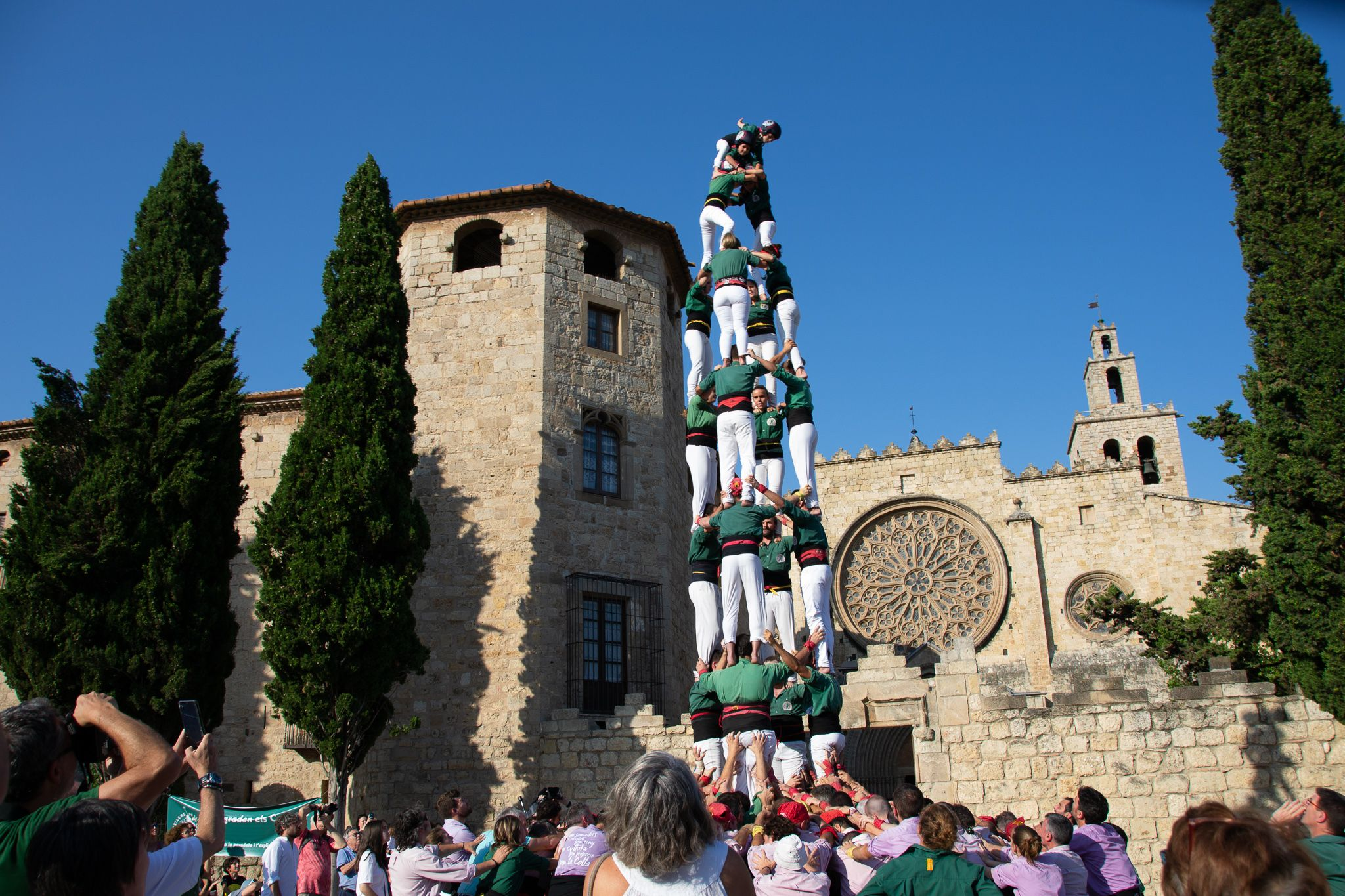 Diada castellera a Sant Cugat. Foto: Silvia Polanco