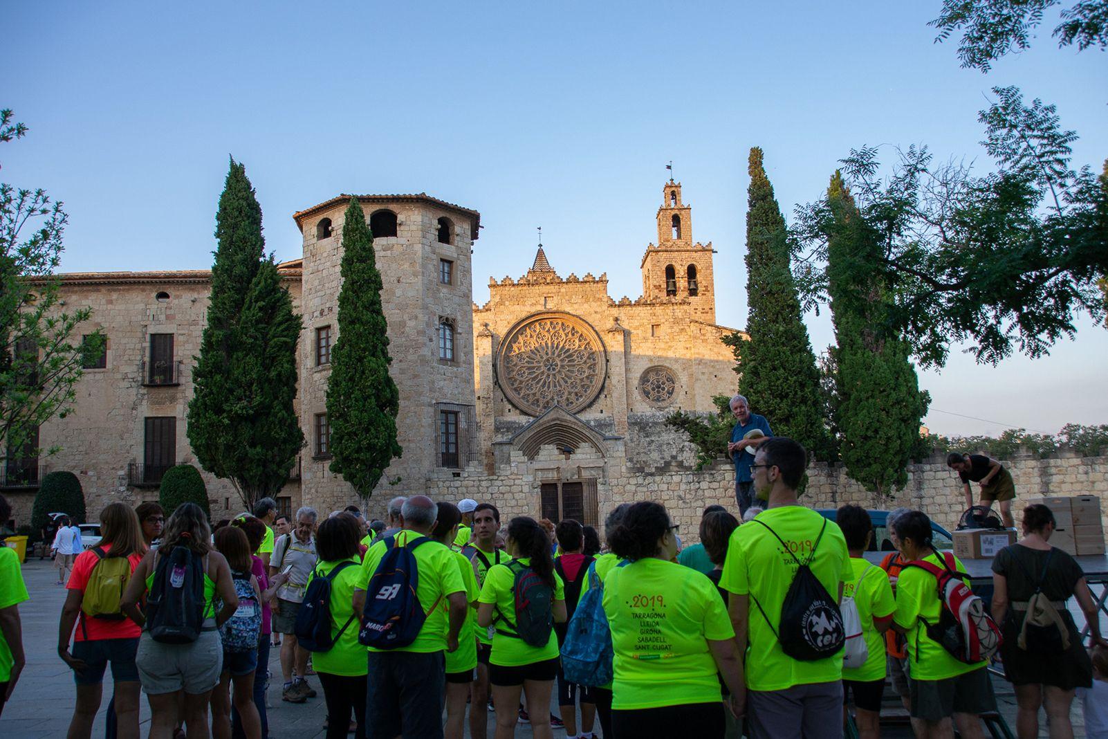 Caminada de la llum a Sant Cugat. Foto: Silvia Polanco