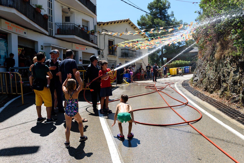 Pràctiques del Grup d'Autoprotecció de Sol i Aire. Foto: Miguel López Mallach