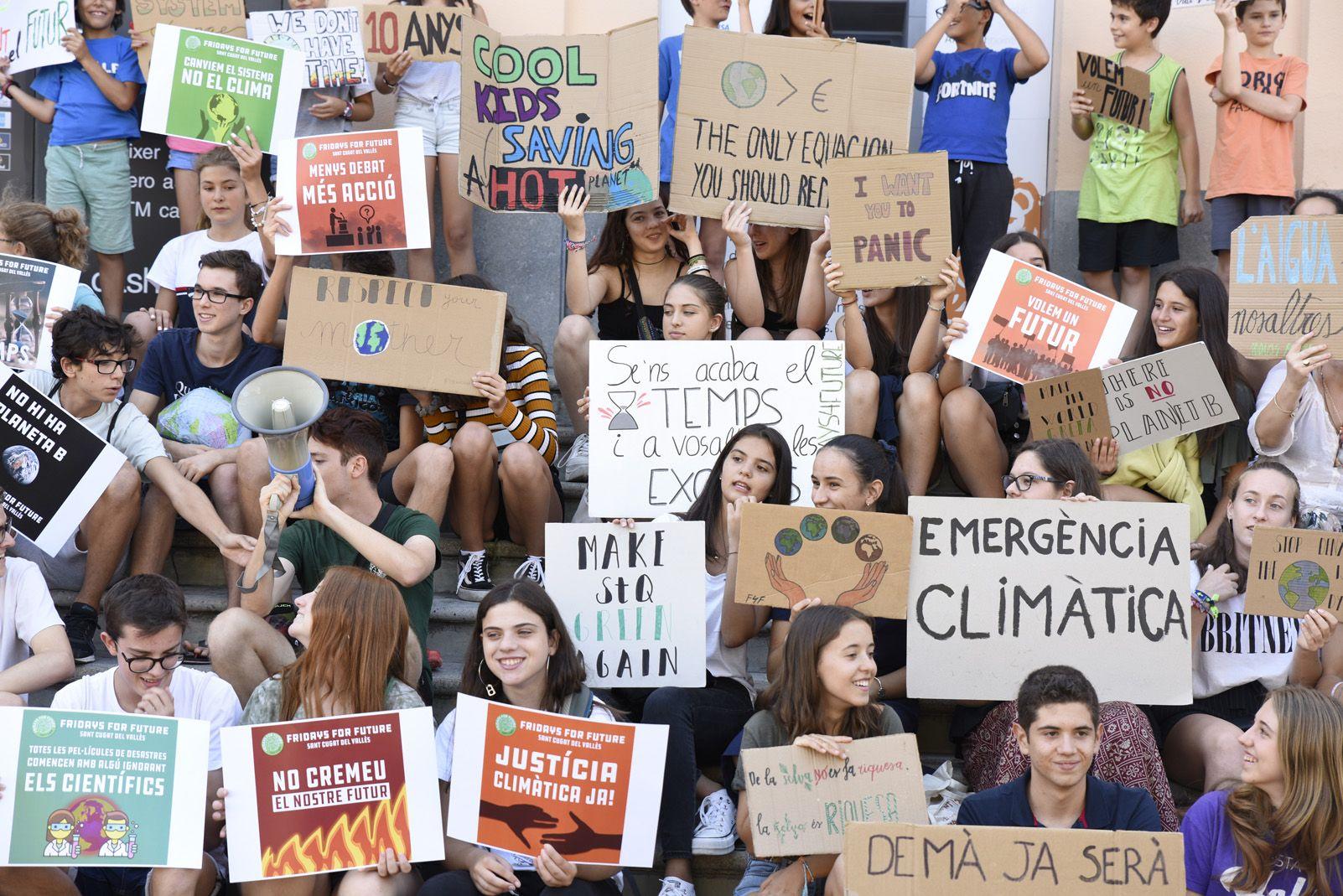 Manifestació de Fridays for Future a Sant cugat. FOTO: Bernat Millet