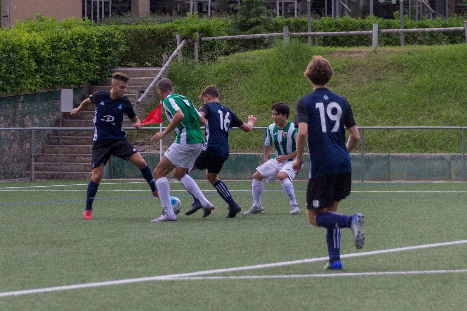 Partit de lliga Atlètic Junior-UD Unificación Bellvitge. FOTO: Paula Galván