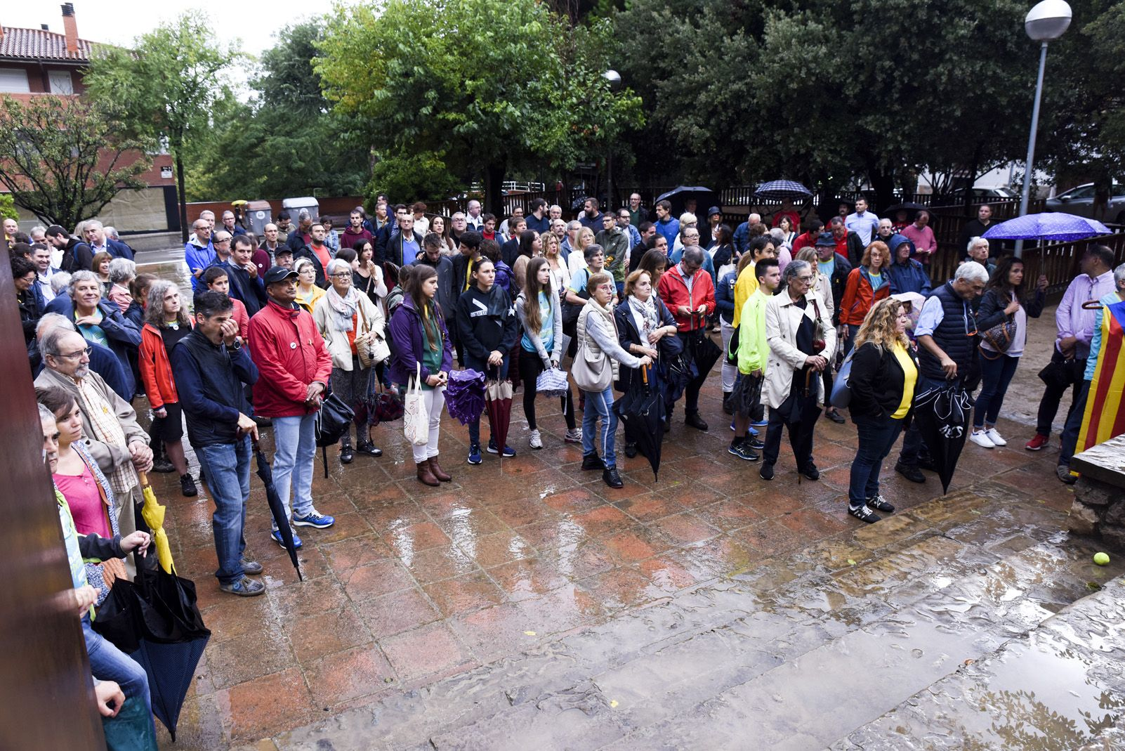 Ofrena a Rafael Casanova per la Diada Nacional Catalana de l'11 de Setembre. Foto: Bernat Millet.