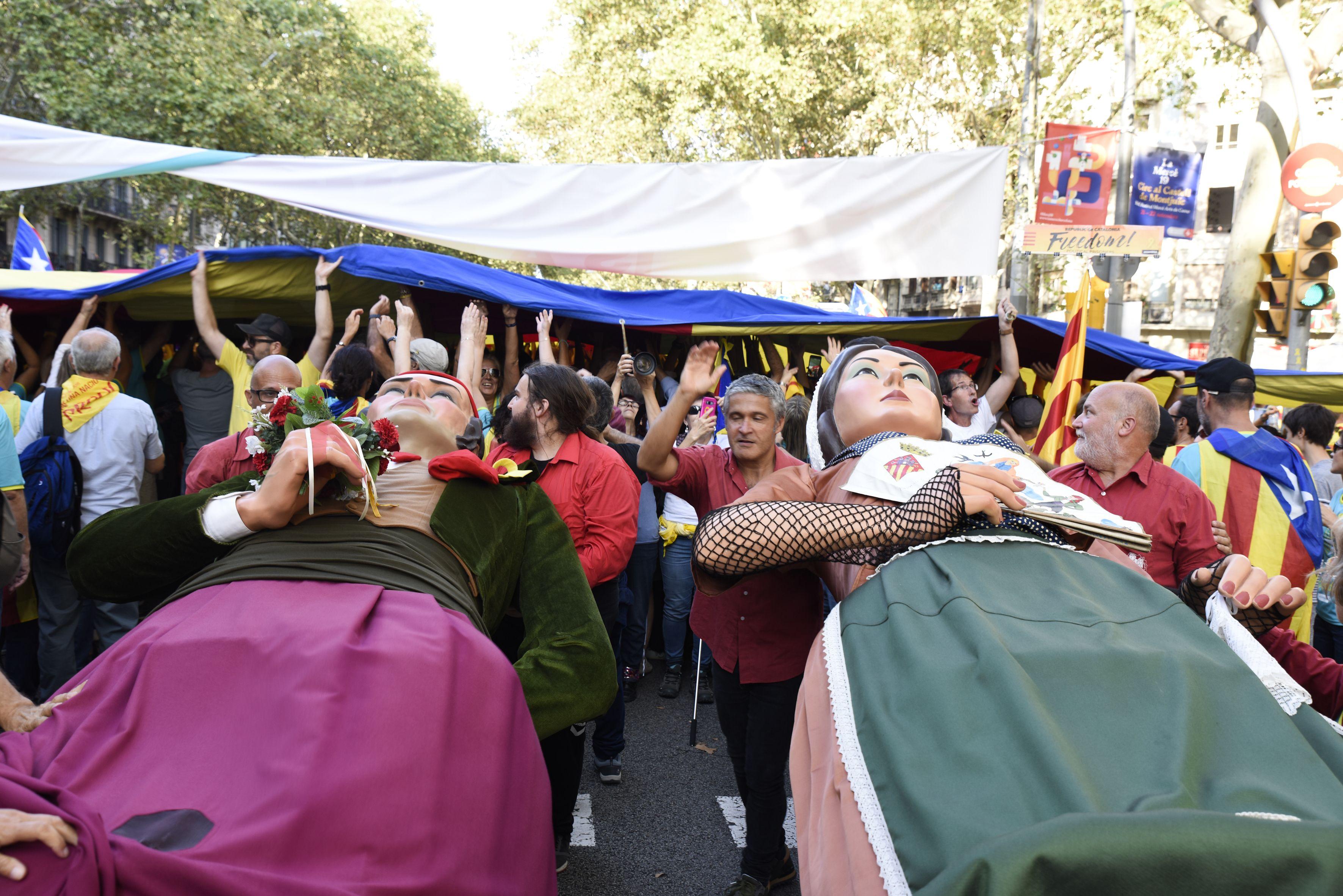 La Diada Nacional de Catalunya a Barcelona. Foto: Bernat Millet.