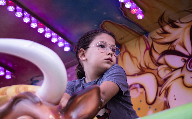 Fira d'atraccions de Festa Major de Volpelleres. Foto: Adrián Gómez.