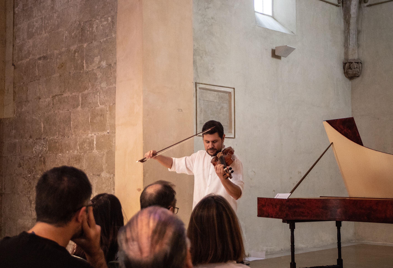 """1es Jornades de música antiga Contratemps: Concert: """"Violins contrastats"""". Foto: Adrián Gómez."""