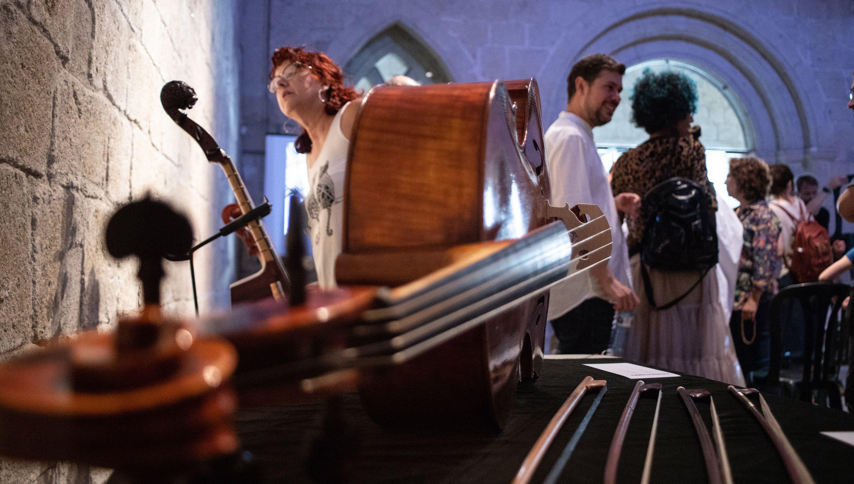 1es Jornades de música antiga Contratemps: Mostra d'instruments barrocs. Foto: Adrián Gómez.