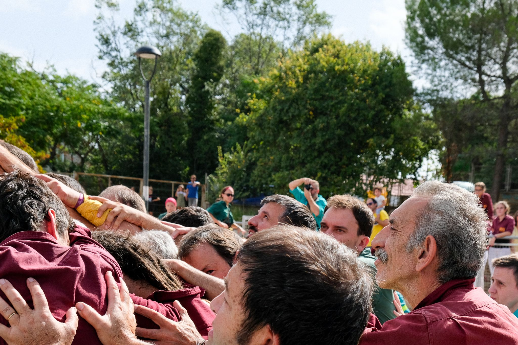 Trobada castellera a la plaça de la Cultura. Foto: Ale Gómez