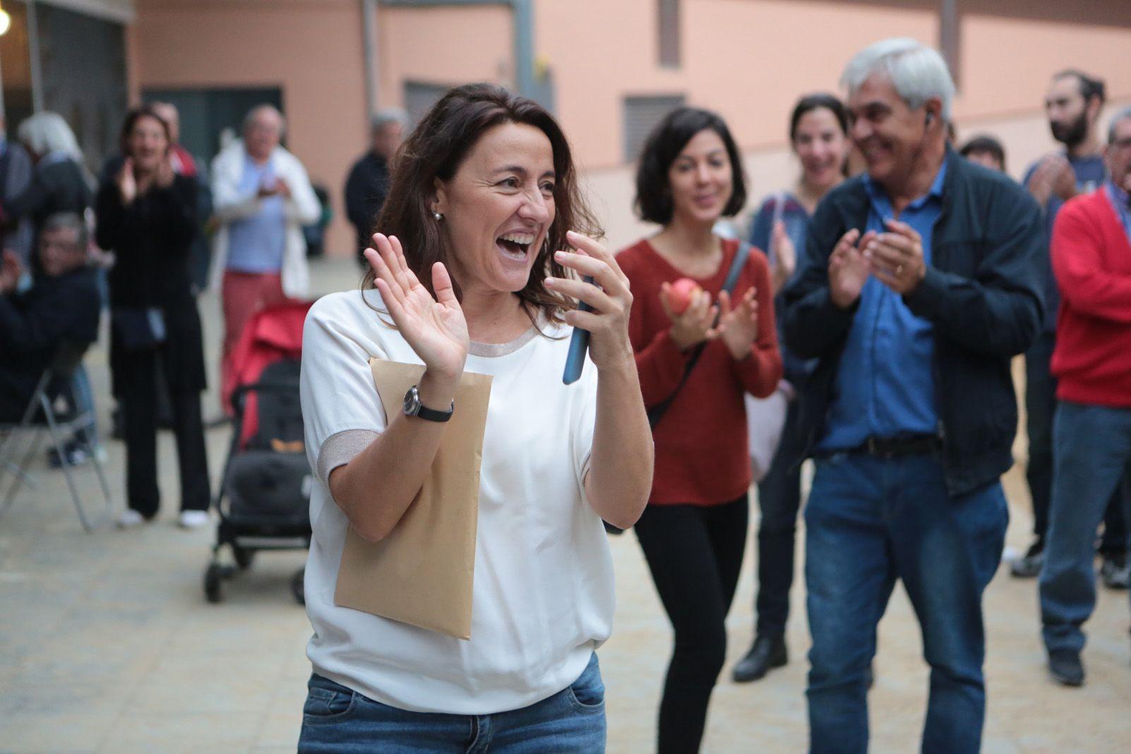 L'alcaldesa Merce Conesa desprès de votar. Foto: Artur Rivera