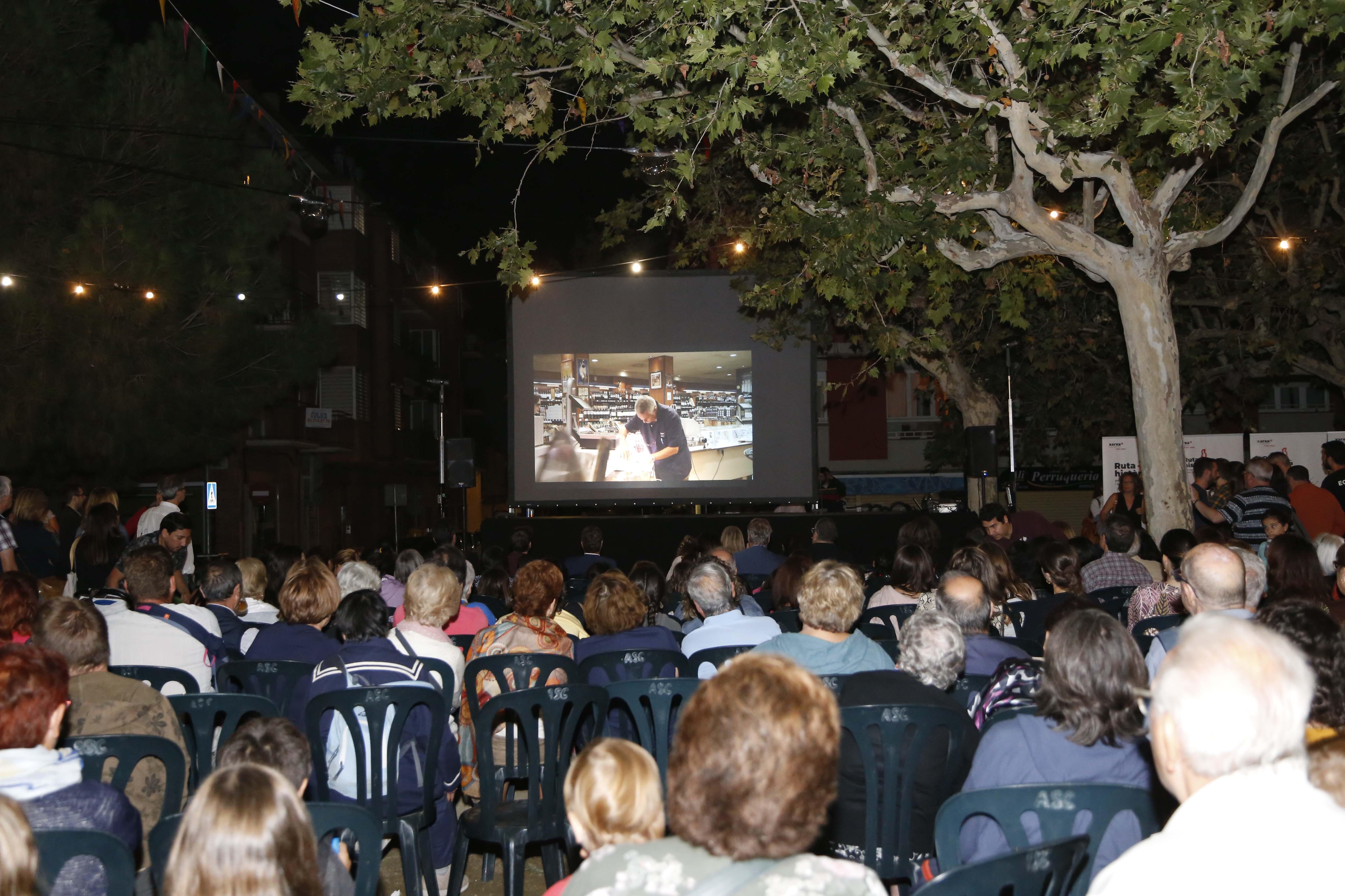"""Presentació del vídeo """"El nostre Barri, la nostre casa""""per la Festa Major del barri del Monestir- Sant Francesc 2019. FOTO: Anna Bassa"""