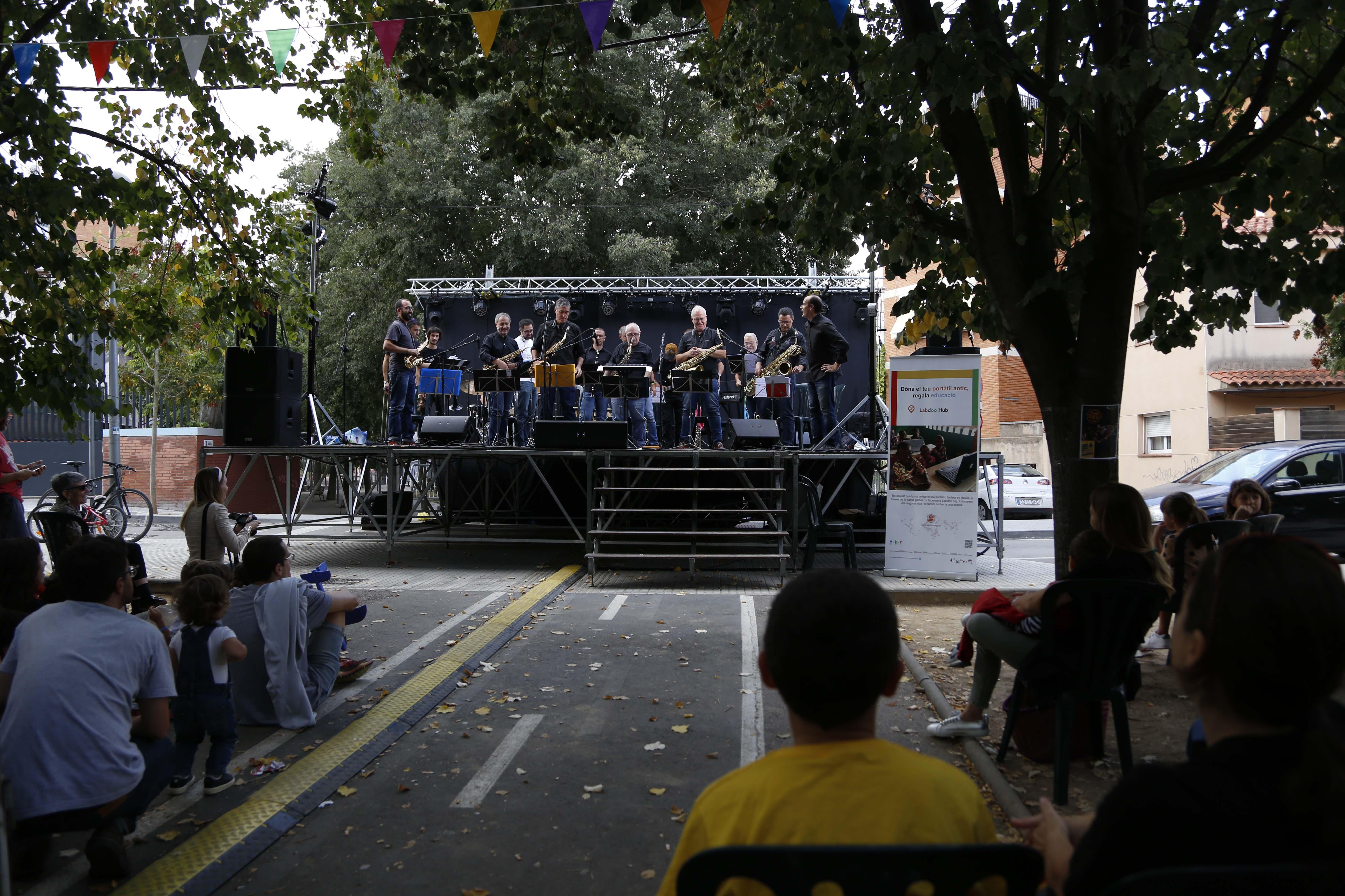 Actuacions musicals per la Festa Major del barri del Monestir- Sant Francesc 2019. FOTO: Anna Bassa
