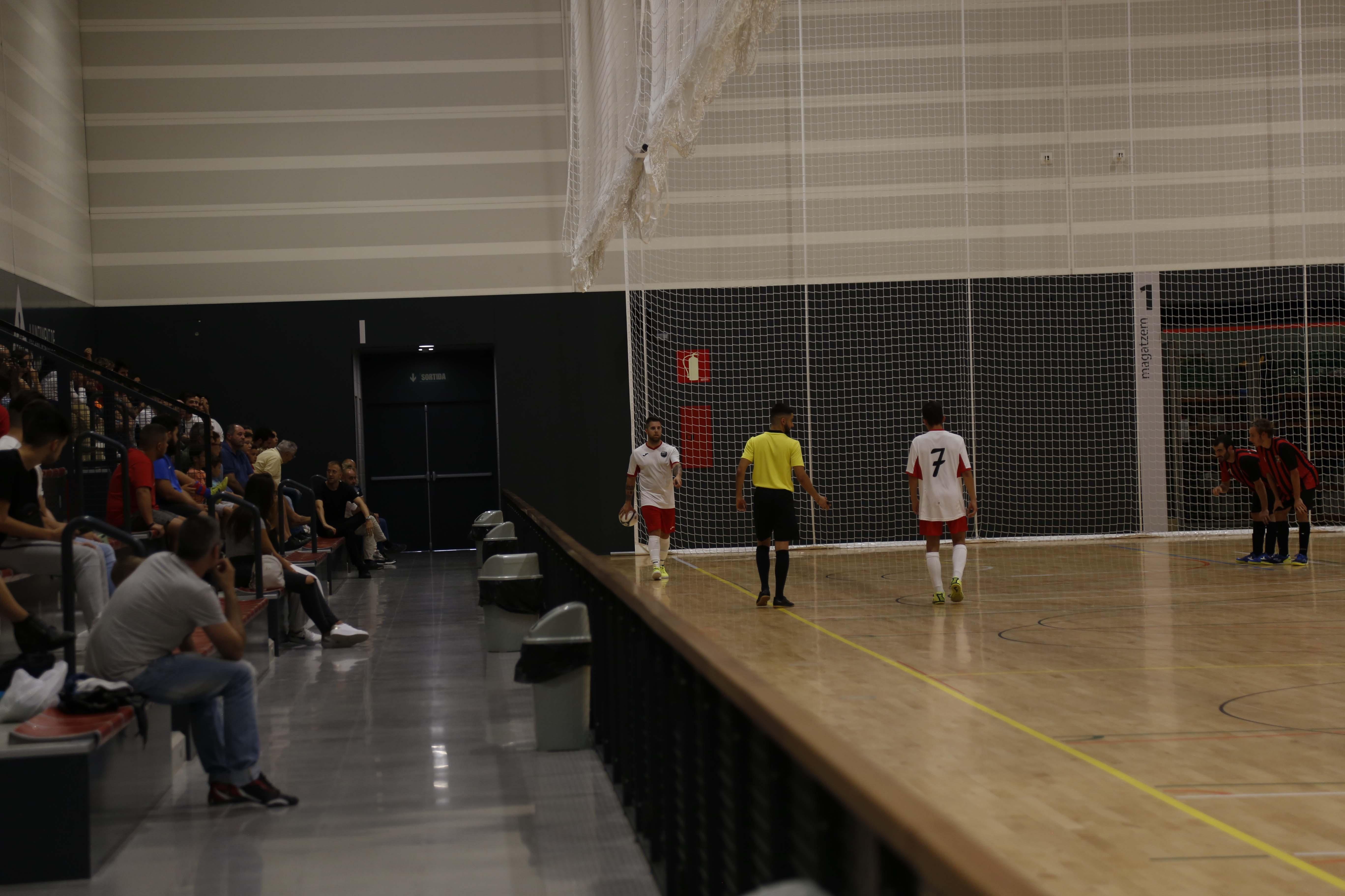Partit de lliga futbol sala FS Sant Cugat- FS Parets. FOTO: Anna Bassa