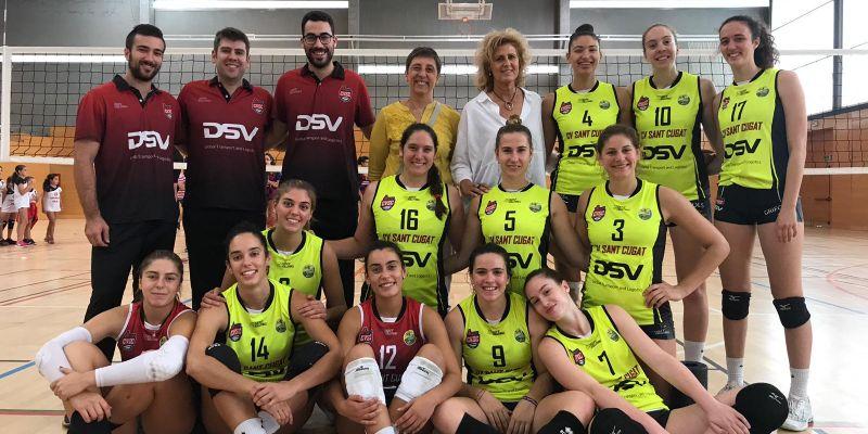 El Club Voleibol Sant Cugat, imbatut i campió de la Super...