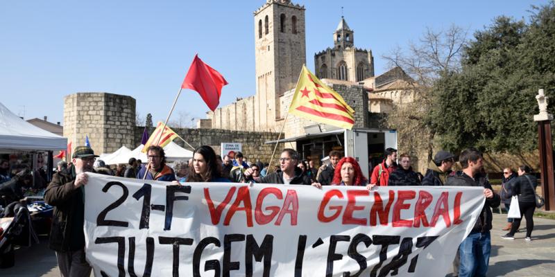 Sant Cugat es prepara per una jornada de vaga general