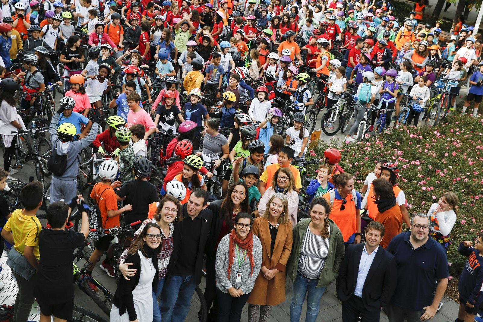 Bicicletada escolar de les escoles de Sant Cugat. Foto: Yves Dimant