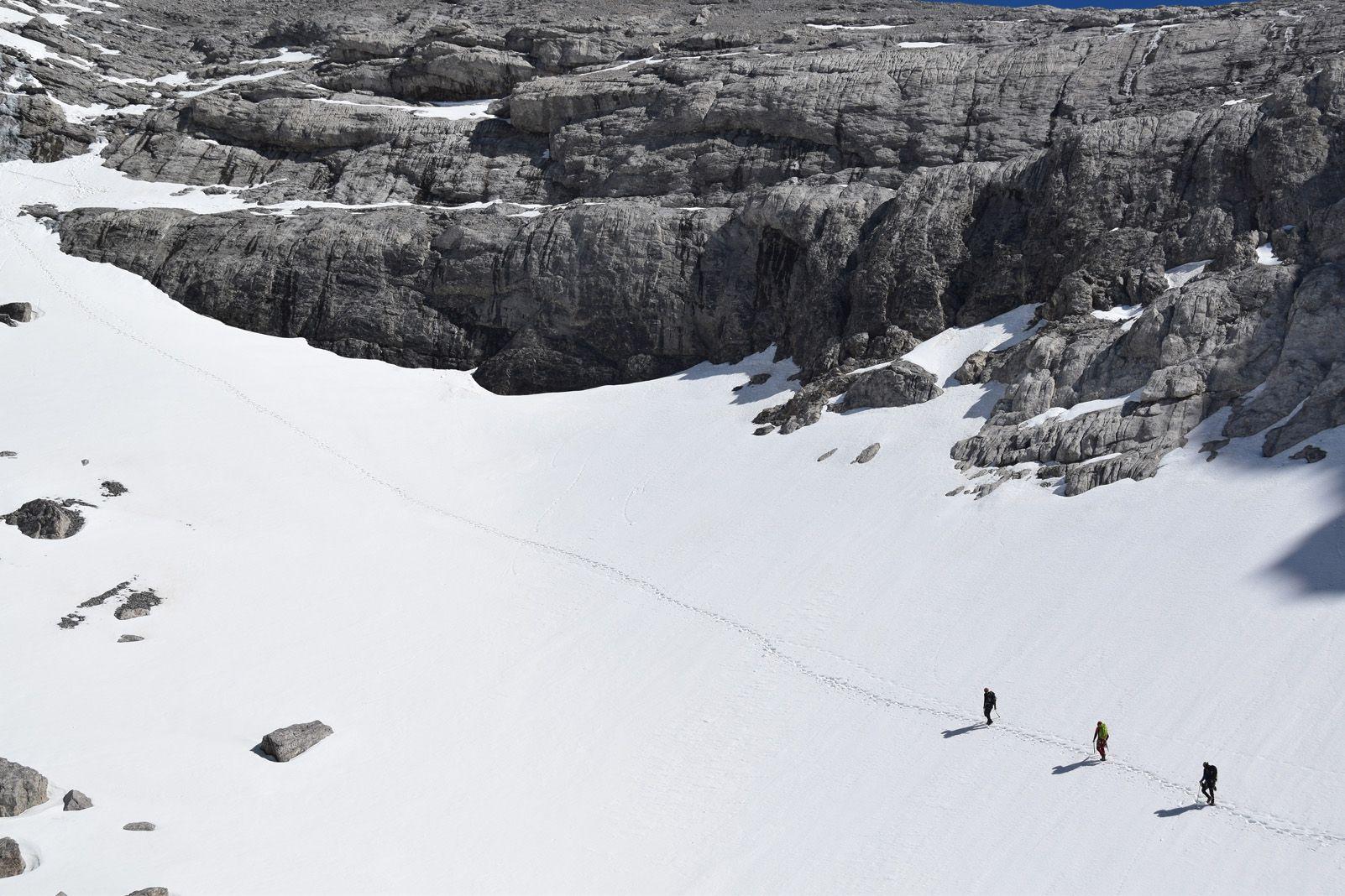 Carles Claraco Anguera   Cap al coll del Cilindro (Monte Perdido)   Coll del Cilindro, a sota del Monte Perdido