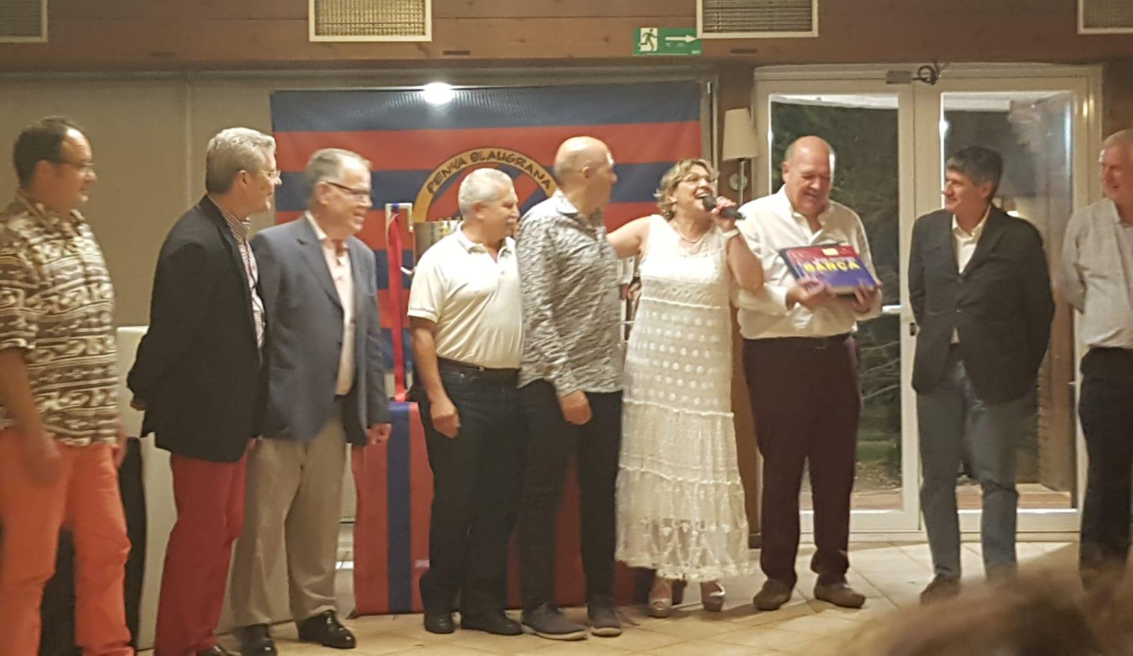 Penya Blaugrana Tres Torres   Penya B. Tres Torres  celebració del seu Aniversari   Rte. Masia Can Ametller