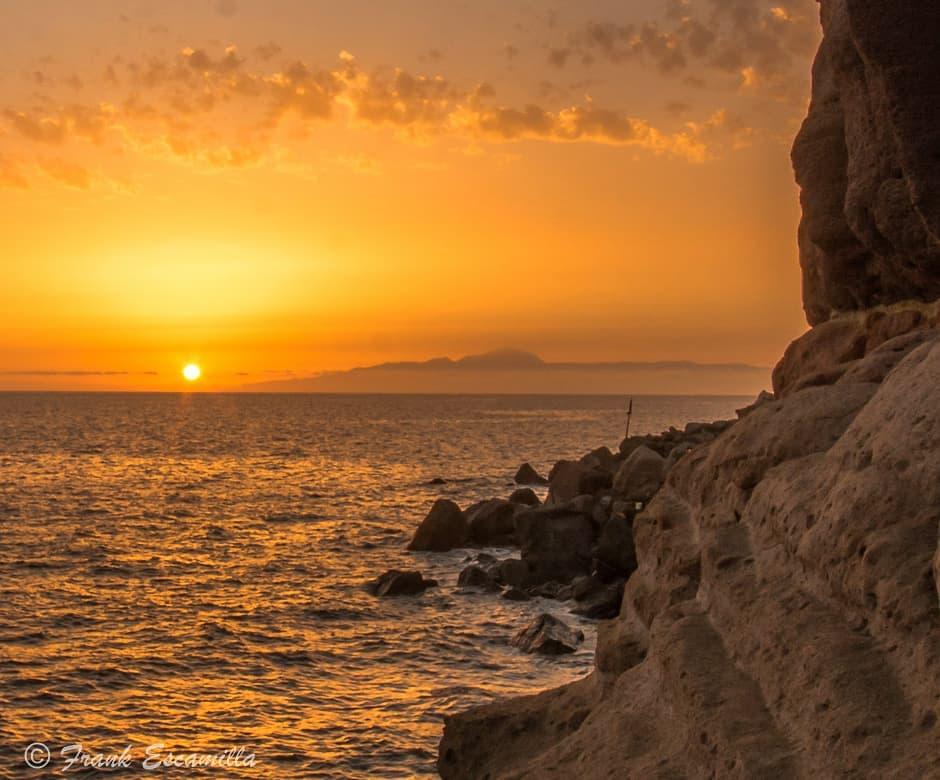 frank eskamilla   Sunset from Mogán Gran Canaria (Canary Islands)