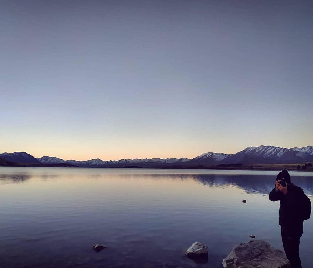 joaquinrz    Sunset with estivicario Special honeymoon in NZ tekapo newzeland lake estiquim